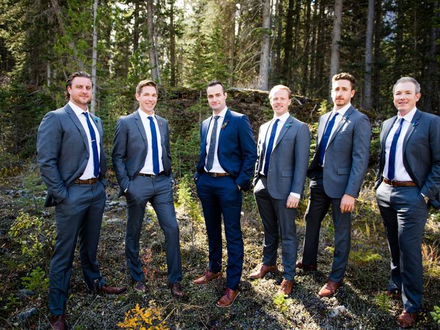 Riley Frame and Kimberly White's wedding in Canmore, Alberta 33