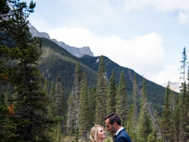 Riley Frame and Kimberly White's wedding in Canmore, Alberta 38