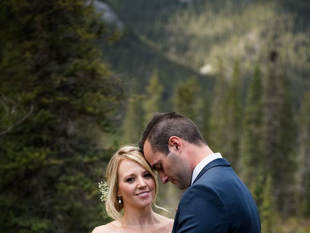 Riley Frame and Kimberly White's wedding in Canmore, Alberta 39