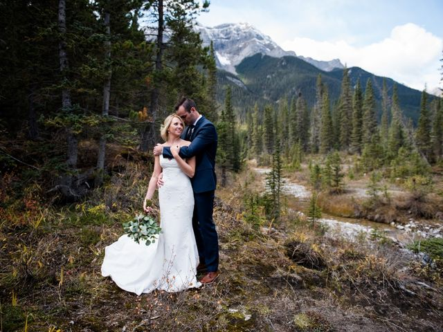 Riley Frame and Kimberly White's wedding in Canmore, Alberta 40