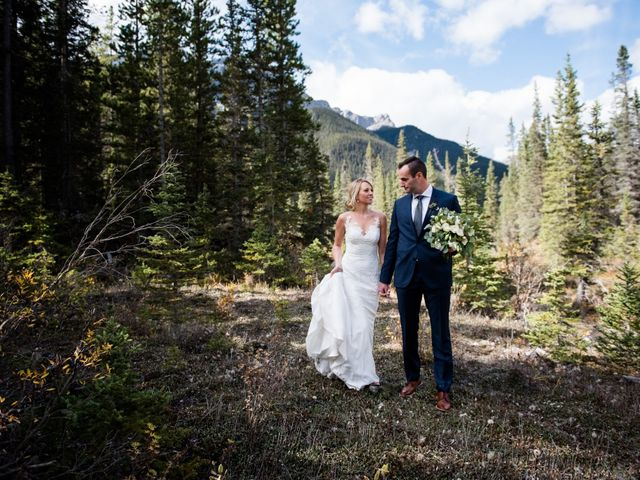 Riley Frame and Kimberly White's wedding in Canmore, Alberta 41