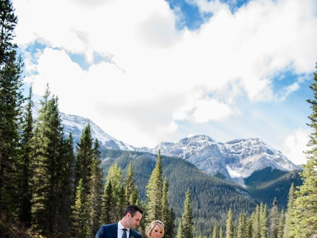 Riley Frame and Kimberly White's wedding in Canmore, Alberta 42