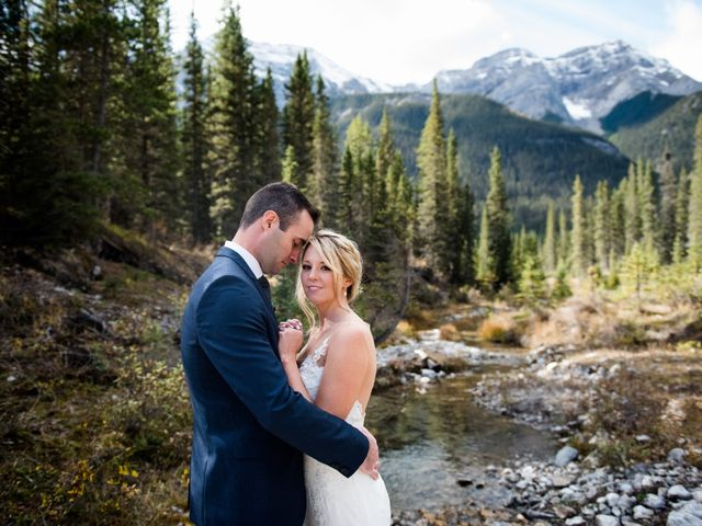 Riley Frame and Kimberly White's wedding in Canmore, Alberta 43