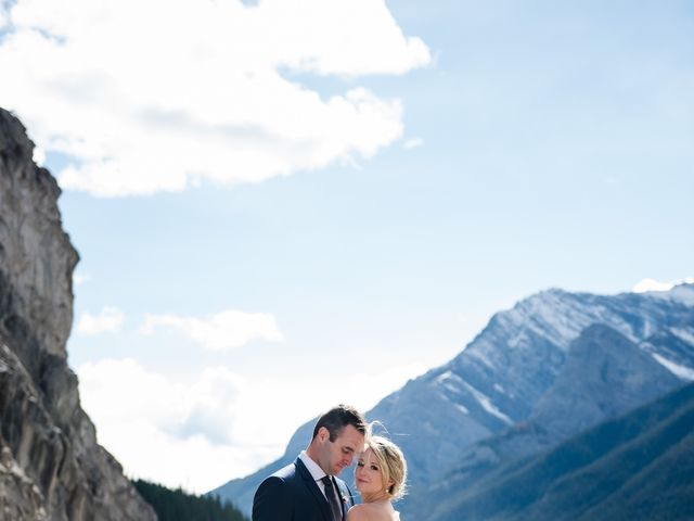Riley Frame and Kimberly White's wedding in Canmore, Alberta 44