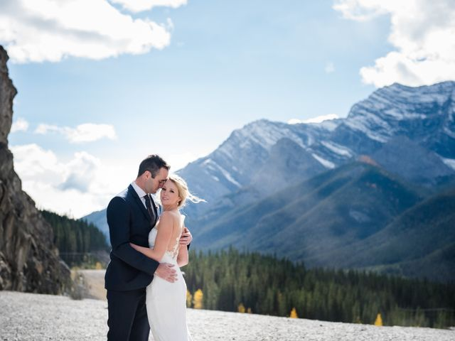 Riley Frame and Kimberly White's wedding in Canmore, Alberta 45