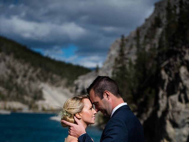 Riley Frame and Kimberly White's wedding in Canmore, Alberta 46