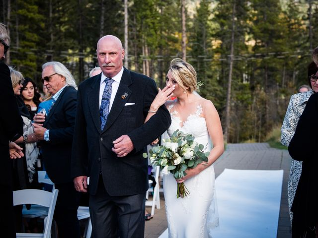 Riley Frame and Kimberly White's wedding in Canmore, Alberta 50