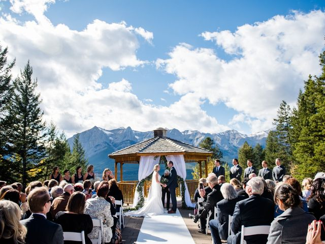 Riley Frame and Kimberly White's wedding in Canmore, Alberta 52