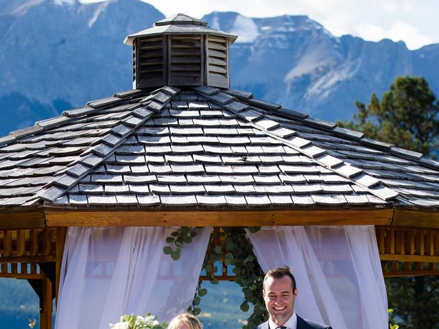 Riley Frame and Kimberly White's wedding in Canmore, Alberta 56