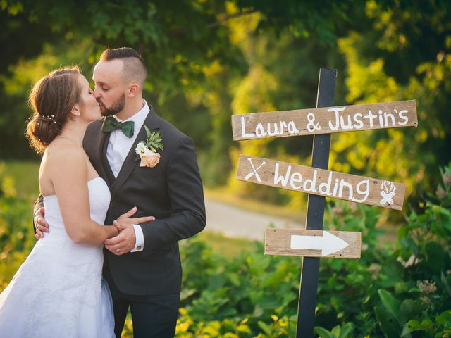 The wedding of Laura and Justin