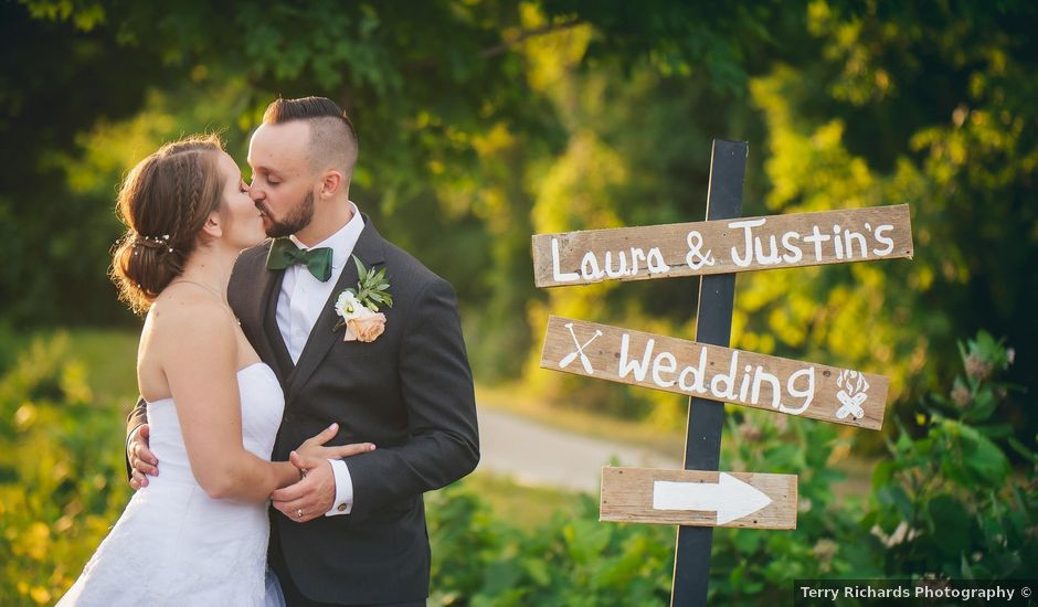 Justin and Laura's wedding in Kitchener, Ontario