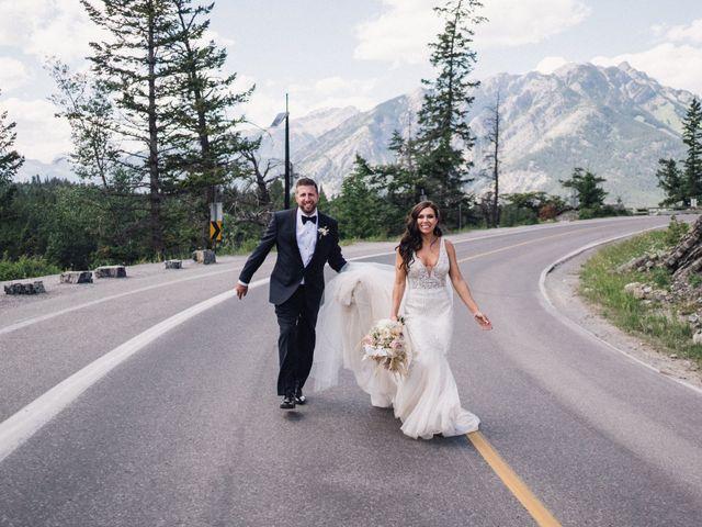 Michael and Larissa's wedding in Banff, Alberta 4