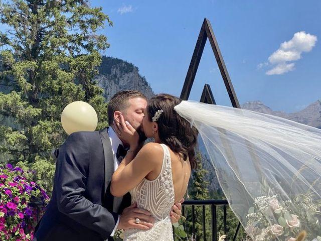 Michael and Larissa's wedding in Banff, Alberta 8