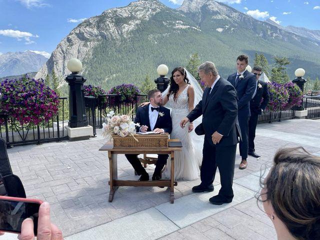Michael and Larissa's wedding in Banff, Alberta 9