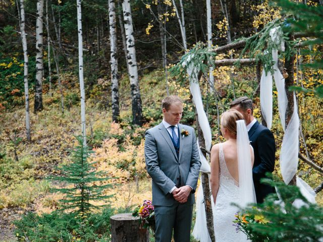 Aaron and Lisa's wedding in Canmore, Alberta 5