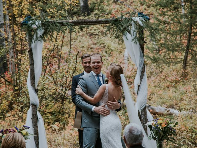 Aaron and Lisa's wedding in Canmore, Alberta 10