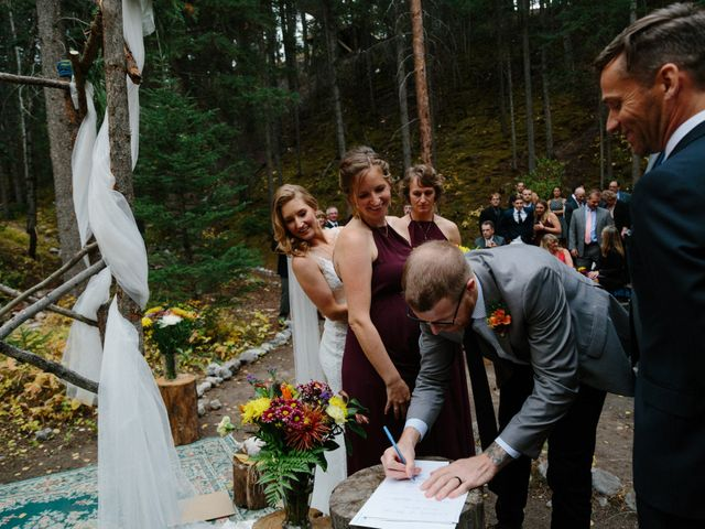 Aaron and Lisa's wedding in Canmore, Alberta 11