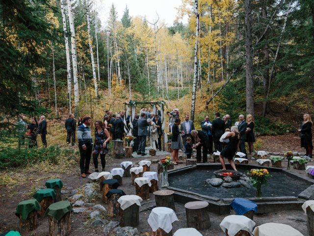 Aaron and Lisa's wedding in Canmore, Alberta 13