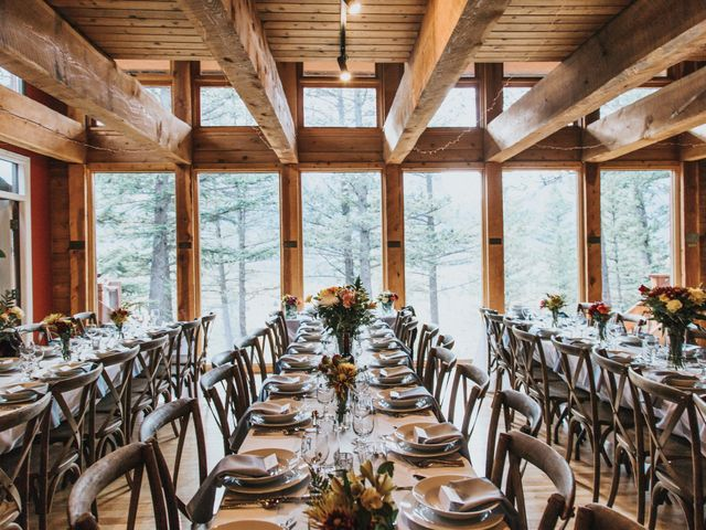 Aaron and Lisa's wedding in Canmore, Alberta 15