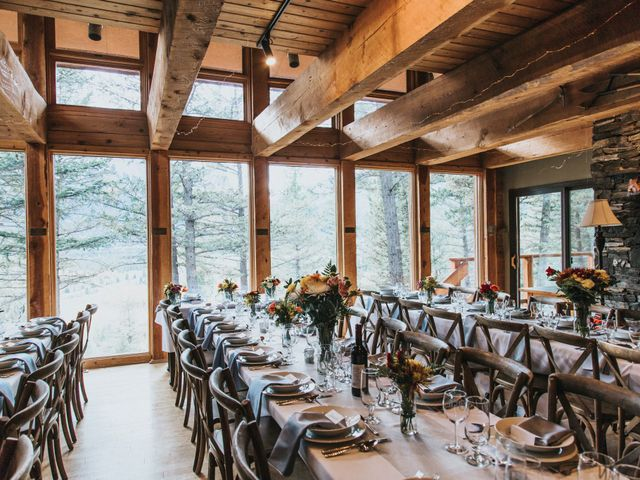 Aaron and Lisa's wedding in Canmore, Alberta 16