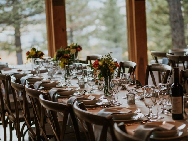 Aaron and Lisa's wedding in Canmore, Alberta 20
