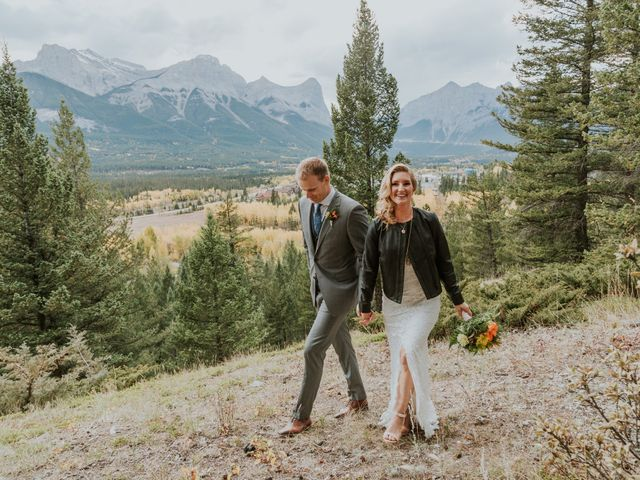 Aaron and Lisa's wedding in Canmore, Alberta 23