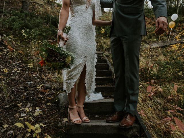 Aaron and Lisa's wedding in Canmore, Alberta 25