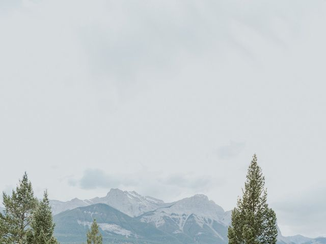 Aaron and Lisa's wedding in Canmore, Alberta 26
