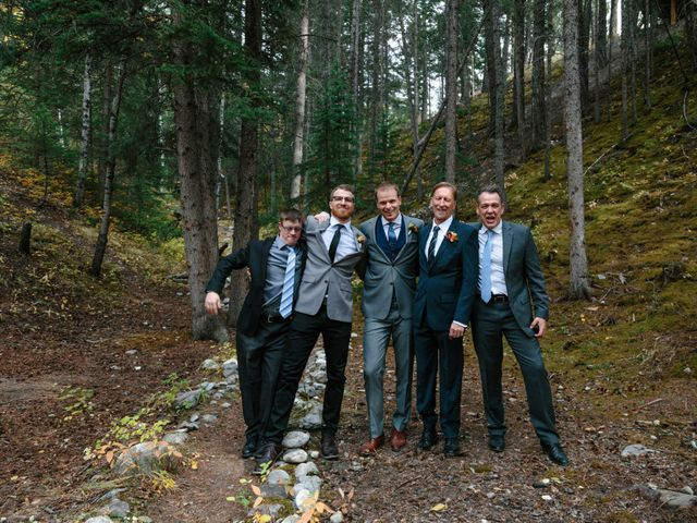 Aaron and Lisa's wedding in Canmore, Alberta 28