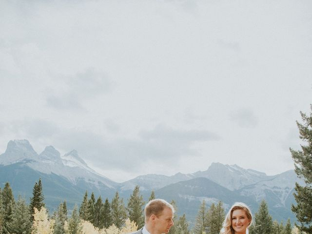 Aaron and Lisa's wedding in Canmore, Alberta 29