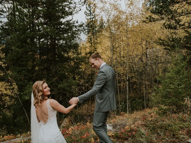 Aaron and Lisa's wedding in Canmore, Alberta 33