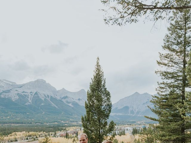 Aaron and Lisa's wedding in Canmore, Alberta 35