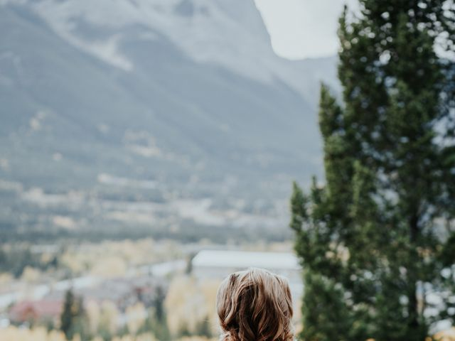 Aaron and Lisa's wedding in Canmore, Alberta 36