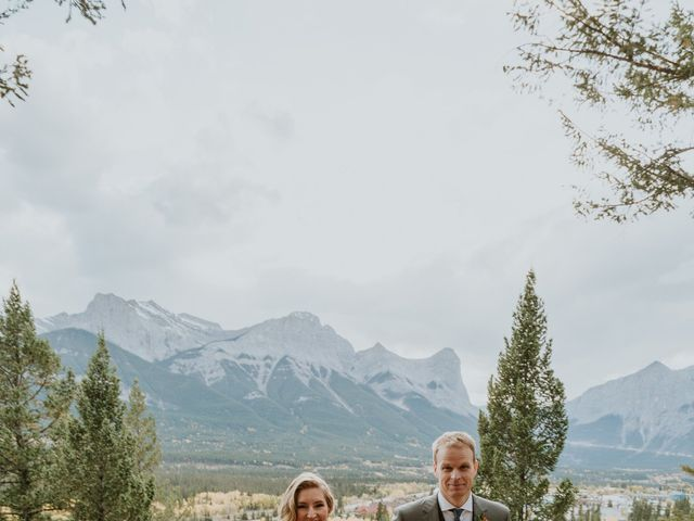 Aaron and Lisa's wedding in Canmore, Alberta 38