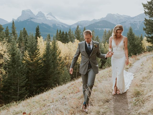 Aaron and Lisa's wedding in Canmore, Alberta 40