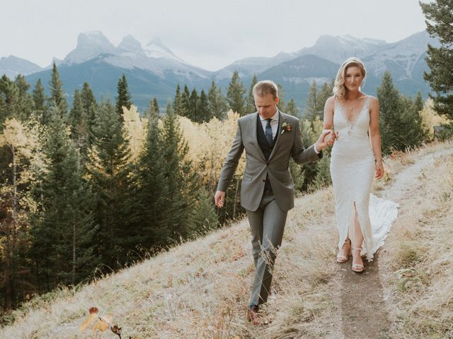 Aaron and Lisa's wedding in Canmore, Alberta 41