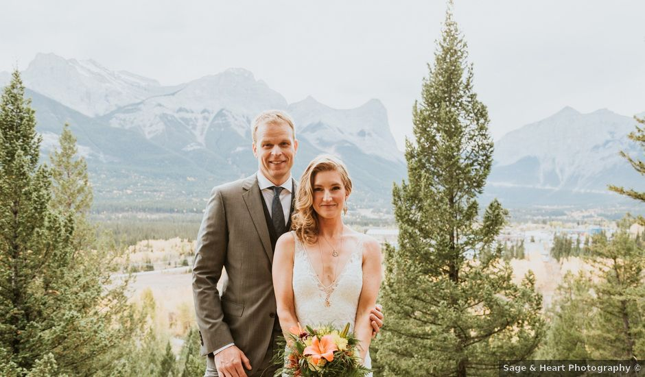 Aaron and Lisa's wedding in Canmore, Alberta