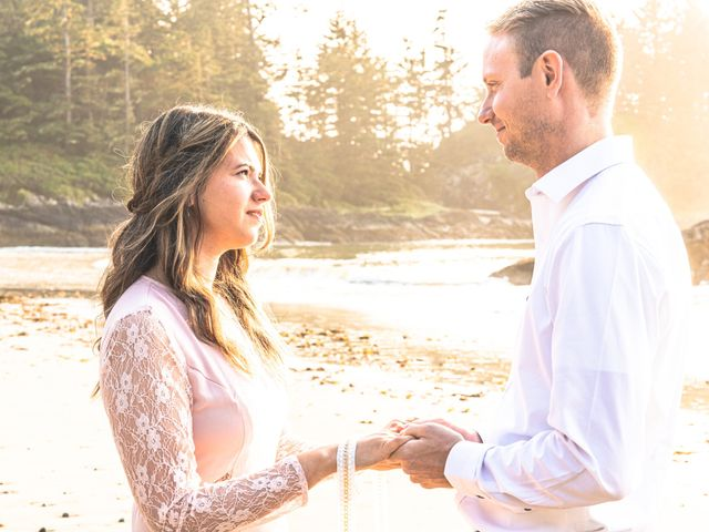 Chris and Vanessa's wedding in Ucluelet, British Columbia 9