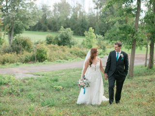 The wedding of Leanne and David