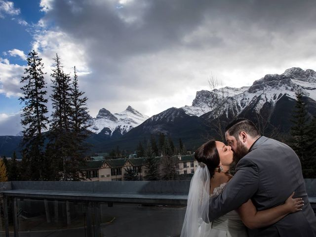 Chris and Michelle's wedding in Canmore, Alberta 6