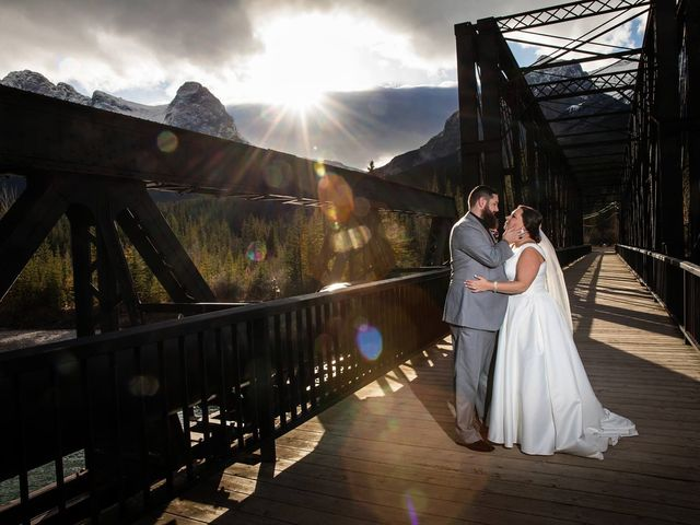 Chris and Michelle's wedding in Canmore, Alberta 8