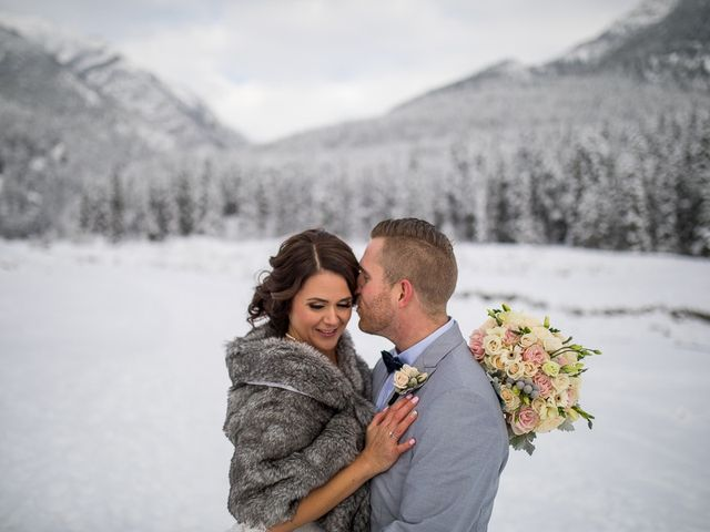 Adam and Sarah's wedding in Canmore, Alberta 12