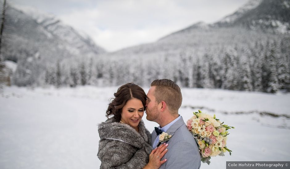 Adam and Sarah's wedding in Canmore, Alberta