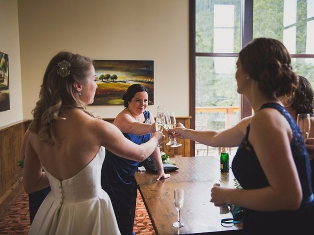 Chris and Lambie's wedding in Canmore, Alberta 3