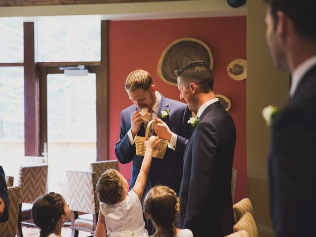 Chris and Lambie's wedding in Canmore, Alberta 16