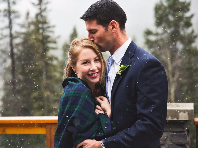 Chris and Lambie's wedding in Canmore, Alberta 1