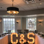 The wedding of Sarah Georges and Ampersand Marquee Letters 8