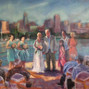 The wedding of Diane & Randall Dayton and Louise Nicholson - Live Event Painting 1