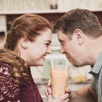 Engagement shoot - Evelyn's Memory Lane Café, High River, AB