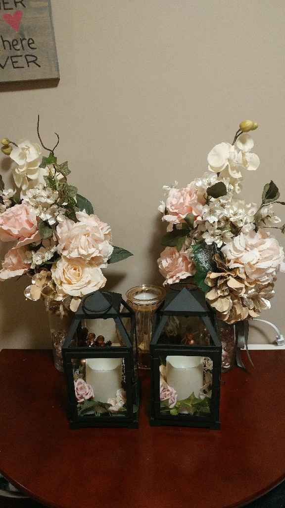 What containers are you using for your centerpieces? - 1